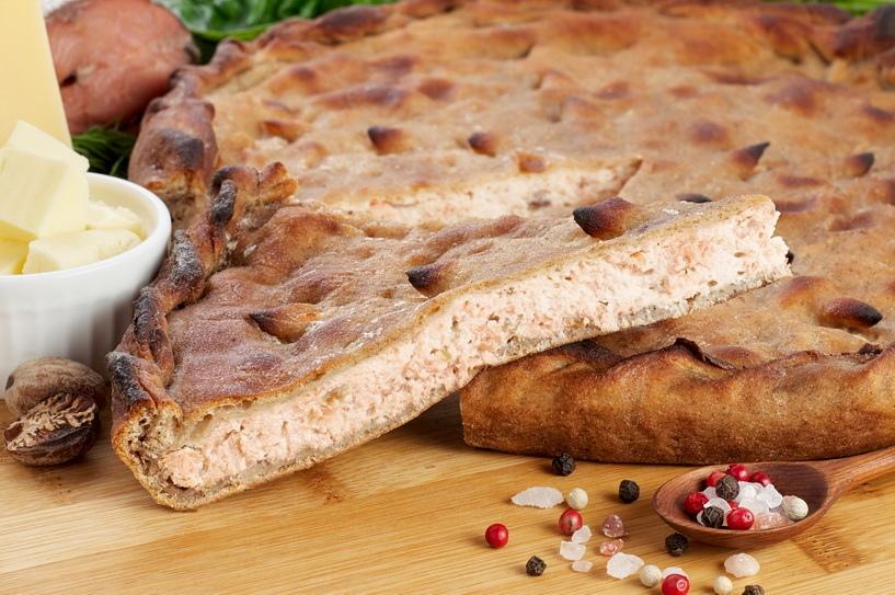 Пирог с цыпленком карри,манго и рикоттой.