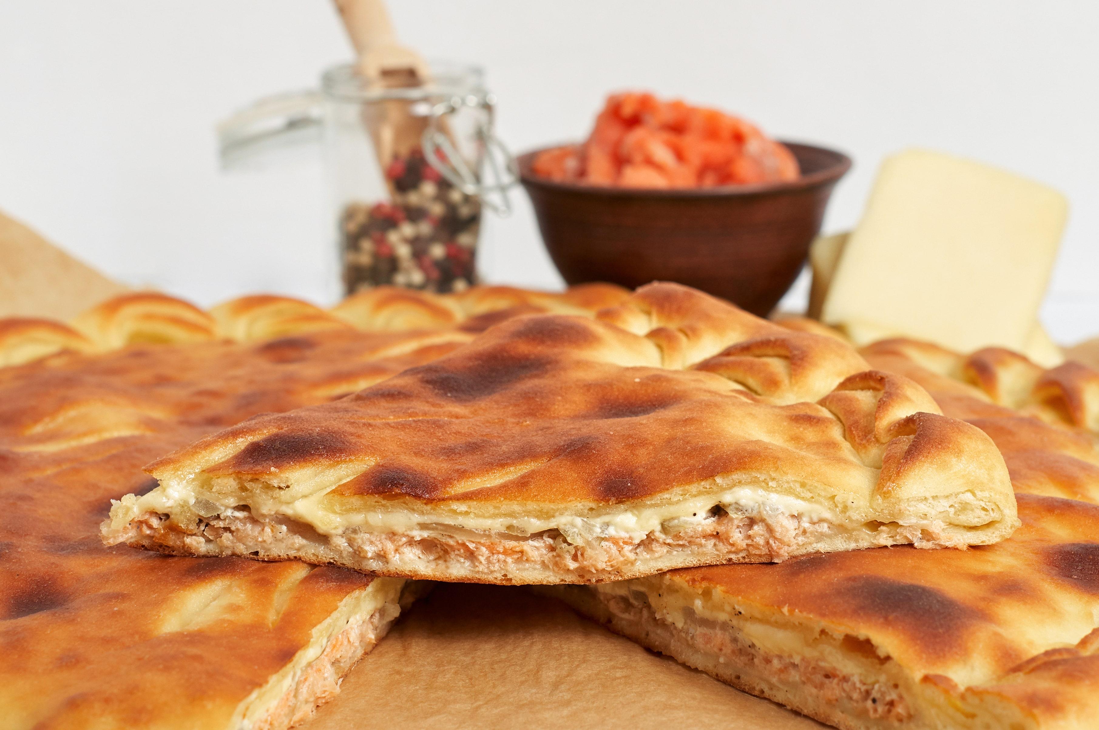 Пирог с лососем по-архиереевски