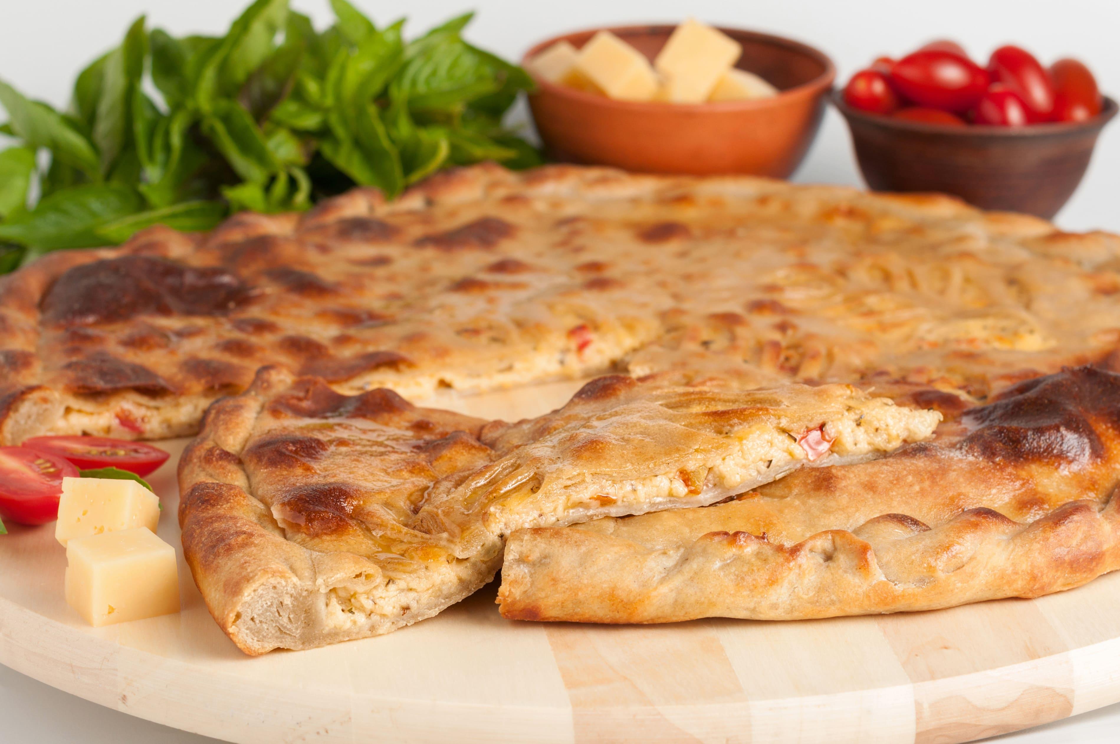 Пирог с сыром и томатами.(ПП)